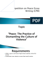 Competition on Peace Essay Writing (CPW)