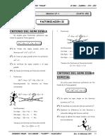 II BIM - 4to. Año - ALG - Guía 4 - Factorización II