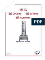 (TA, 2008) AR-G2, AR 2000ex and AR 1500ex Rheometers - Operator's Manual