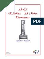 (TA, 2008) AR-G2, AR 2000ex and AR 1500ex Rheometers - Operator's Manual