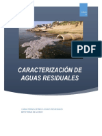 CARACTERIZACION DE AGUAS RESIDUALES