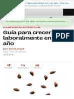Guía para crecer laboralmente en un año  Harvard Business Review en Español