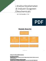 Analisa Keselamatan Kerja Di Ecogreen Oleochemicals