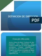 1.Definicion de Direccion