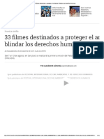 33 Filmes Destinados a Proteger El Ambiente y Blindar Los Derechos Humanos