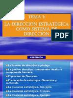 Tema 1 Dirección Estratégica