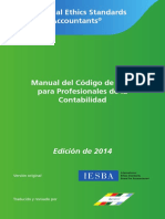 Manual Del Código De Ética Para Profesionales De La Contabilidad 2014