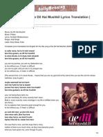 bollymeaning.com-Tere Bina Guzara Ae Dil Hai Mushkil Lyrics Translation  ADHM.pdf