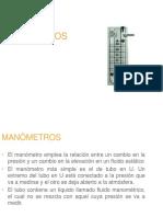 Manómetros y Barómetros