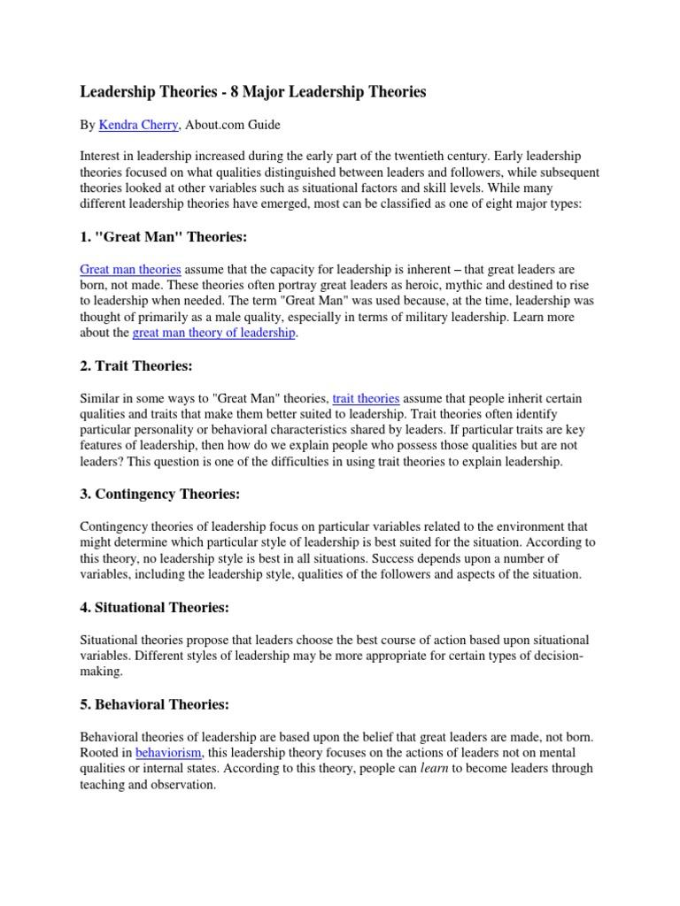 Kump 1 Leadership Theories | Leadership | Leadership & Mentoring