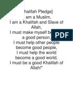 Khalifah Pledge