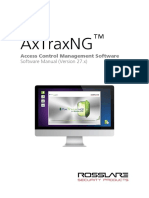 AxTraxNG Software Installation and User Manual 180517