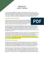 Bacteria CareSheet