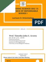 Lecture 0 Orientation