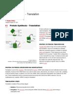 Translation of DNA