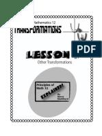 Principles of Math 12 - Transformations Lesson 4