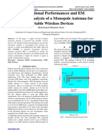 Computational Performances and EM Absorption Analysis of a Monopole Antenna for Portable Wireless Devices