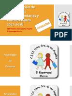 PROGRAMACIÓN DE ACTIVIDADES DE PRIMARIA