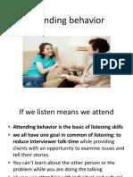 Attending Behavior