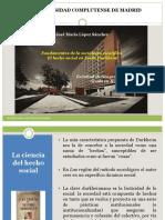 7.1.- Fundamentos de La Sociología Científica. El Hecho Social de Emile Durkheim