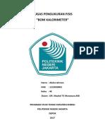 Bom Kalorimeter (Abdurrahman)(1215020001)(4E)