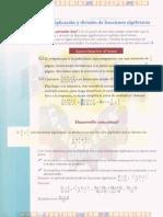 MULTIPLICACIÓN Y DIVISIÓN DE FRACCIONES ALGEBRAICAS