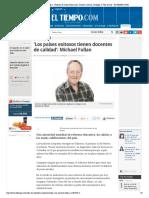 Entrevista Con Michael Fullan - Noticias de Salud, Educación, Turismo, Ciencia, Ecología y Vida de Hoy - ELTIEMPO