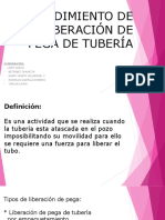 Procedimiento de Liberación de Pega de Tubería