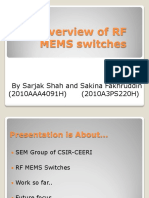 98617015 an Overview of RF MEMS Switches