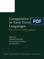 (Studies in Language Companion Series 138) Gabriele Diewald, Leena Kahlas-Tarkka, Ilse Wischer-Comparative Studies in Early Germanic Languages_ With a Focus on Verbal Categories-John Benjamins Publish