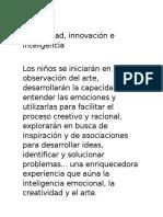 Creatividad, innovación e Inteligencia