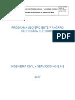 Programa Uso Eficiente y Ahorro de Energía Eléctrica