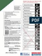 2011-2012 Honda CR-Z Service Manual