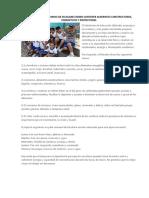 Lonchera y Menú Diario de Escolares Deben Contener Alimentos Constructores