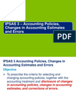 Accounting Policies and Changes in Estimate