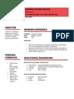 My English Resume (Huzaimie)