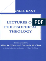 Kant, Immanuel - Lectures on Philosophical Theology (Cornell, 1978)