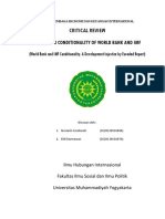 Critical Review the Unfair Conditionality of IMF and WB