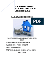 La Autorrelacion Publicitaria en El Peru