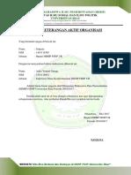 Contoh Surat Aktif Organisasi