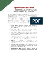 Bibliografía metodologica recomendada