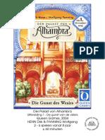 Alhambra - regeln erweiterung 1 DE Die Guenst des Wesirs