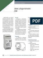 Protector de sobre y baja tensión monofásico 5 KW