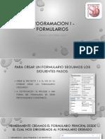 Programacion i - Formularios