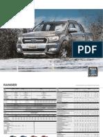 Ficha Técnica Ford Ranger 2018