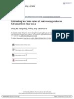 Estimating Leaf Area Index of Maize Using Airborne Full-waveform Lidar Data