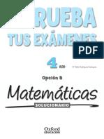 Solucionario libro Matematicas 4 Eso