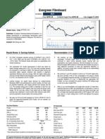 Evergreen Fibre Board 2Q10 - Maintain Buy