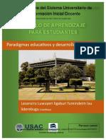 1- 5 MAE Paradigmas Educativos y Desarrollo Del CNB
