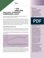 Világ Top Hadipari Vállalatainak Statisztikái - SIPRI Top 100 (2015) - Stockholm-i Nemzetközi BékeKutató Intézet Elemzése